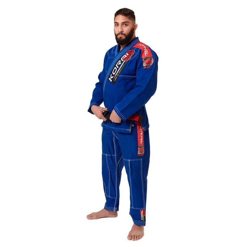 Kimono Jiu Jitsu Koral MKM Competition Azul Royal Adulto Unissex