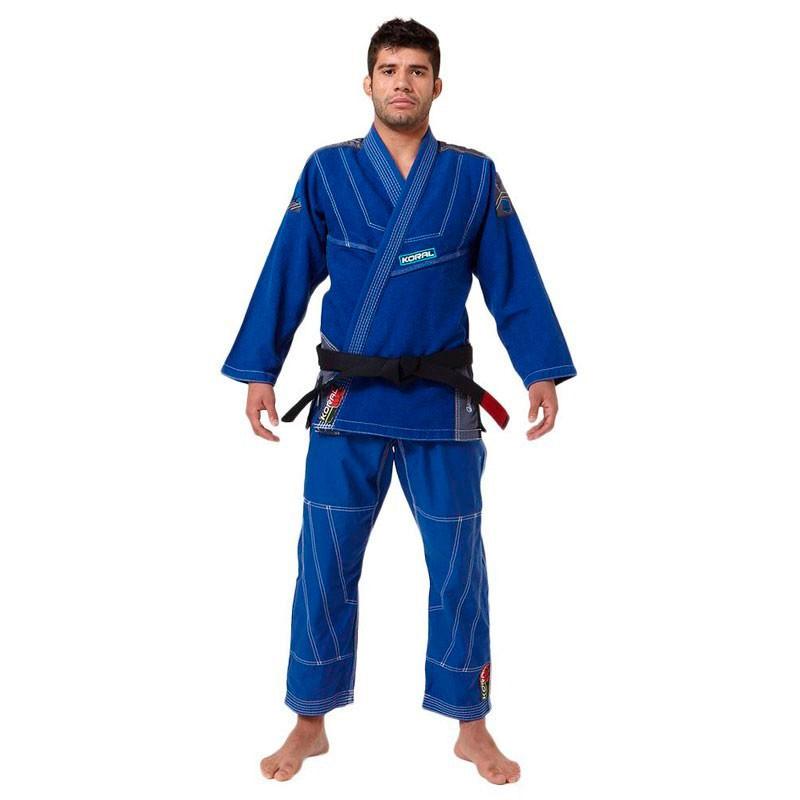 Kimono Jiu Jitsu Koral Mkm Slim Fit Azul Royal Adulto Unissex