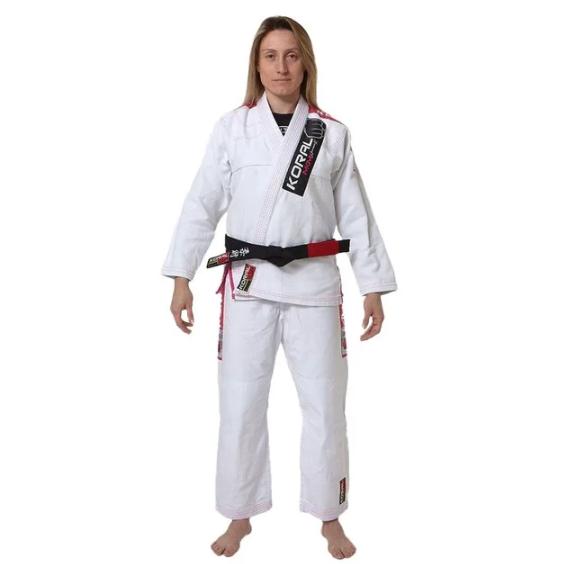 Kimono Jiu Jitsu Koral Novo MKM Harmonik Branco Feminino