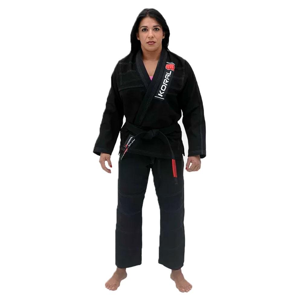 Kimono Jiu Jitsu Koral One Preto Adulto Unissex