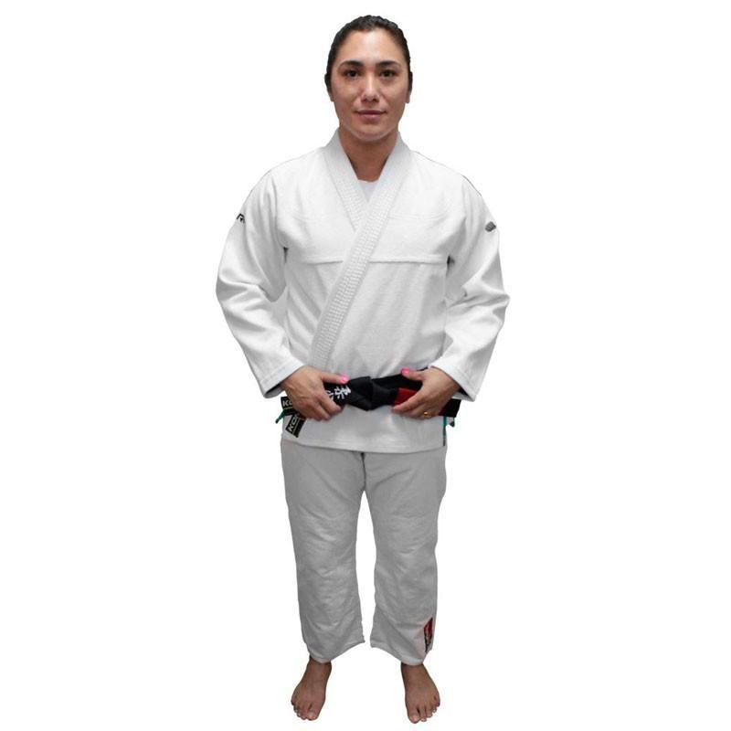 Kimono Jiu Jitsu Koral Original Harmonik Branco Feminino