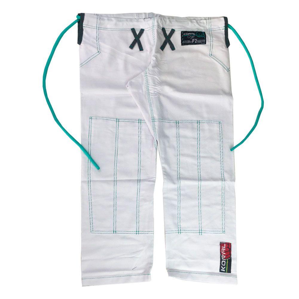 Kimono Jiu Jitsu Koral Original Slim Fit Web Branco Feminino