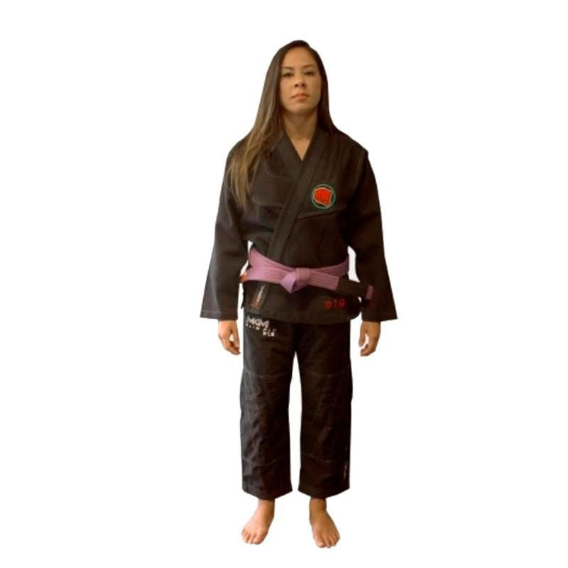Kimono Jiu Jitsu Koral Slim Fit Pro 1.9 Preto Feminino