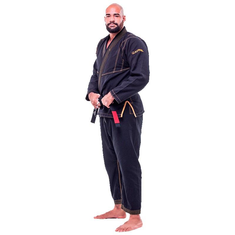 Kimono Jiu Jitsu Koral Ultra Light Preto Adulto Unissex