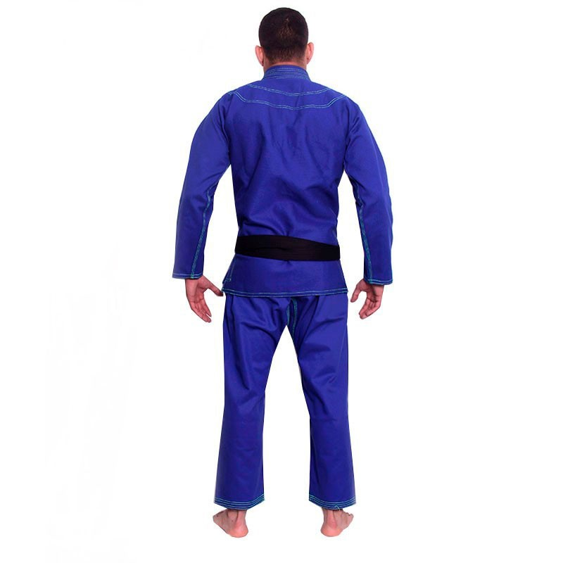 Kimono Jiu Jitsu Kvra Bjj Style Azul Adulto Unissex