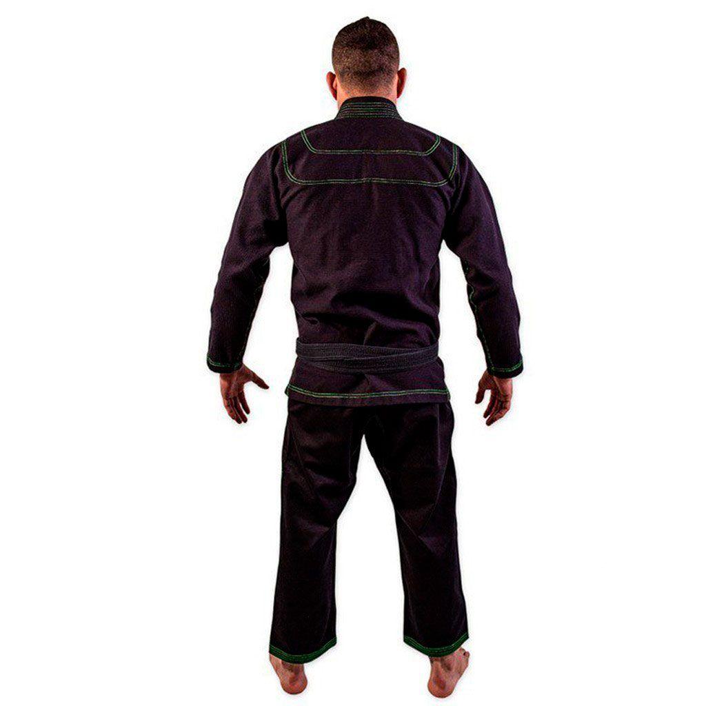 Kimono Jiu Jitsu Kvra Bjj Style Preto Adulto Unissex