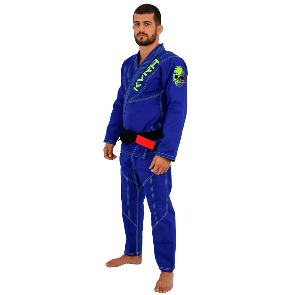 Kimono Jiu Jitsu Kvra Shadow Azul Adulto Unissex