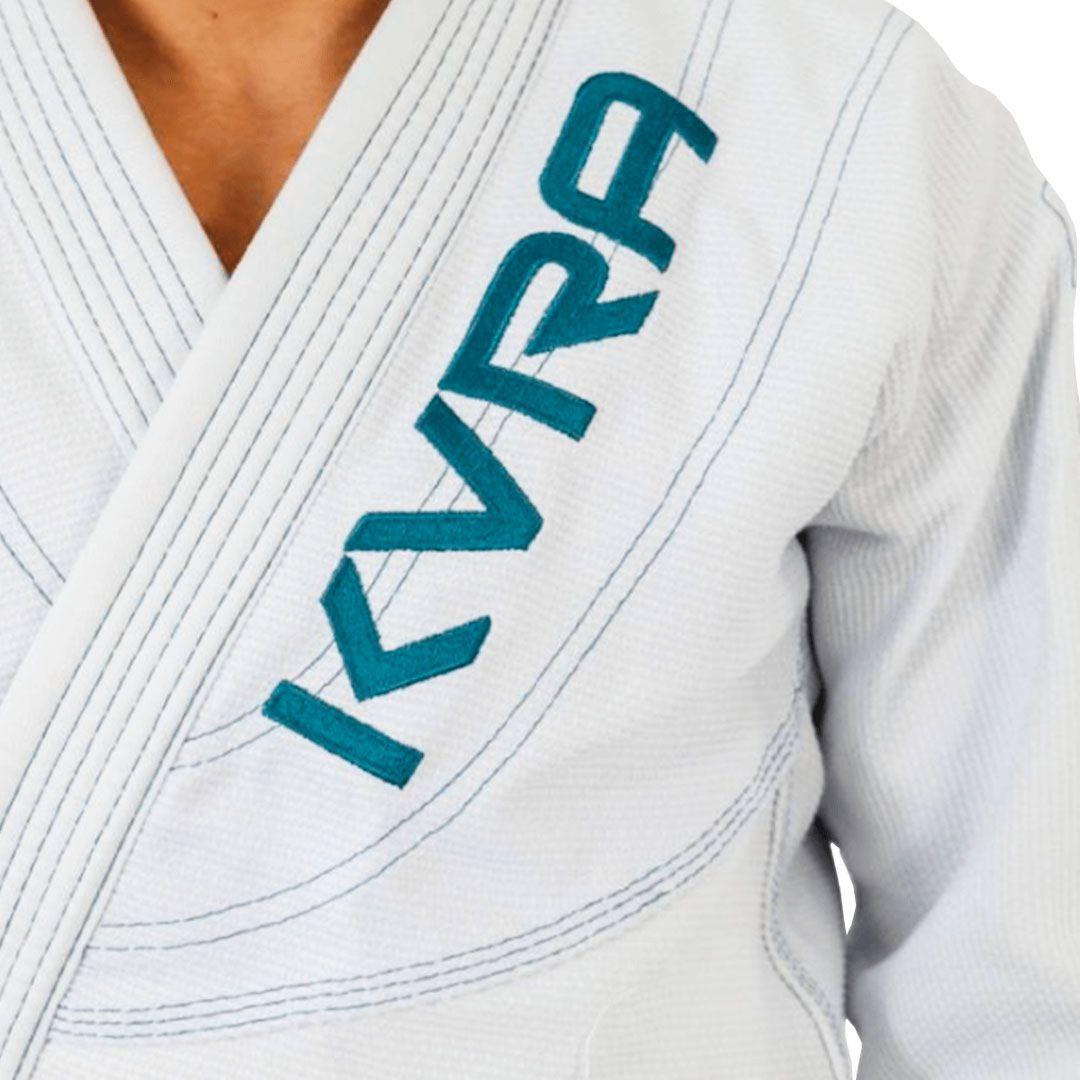 Kimono Jiu Jitsu Kvra Shadow Branco Adulto Unissex