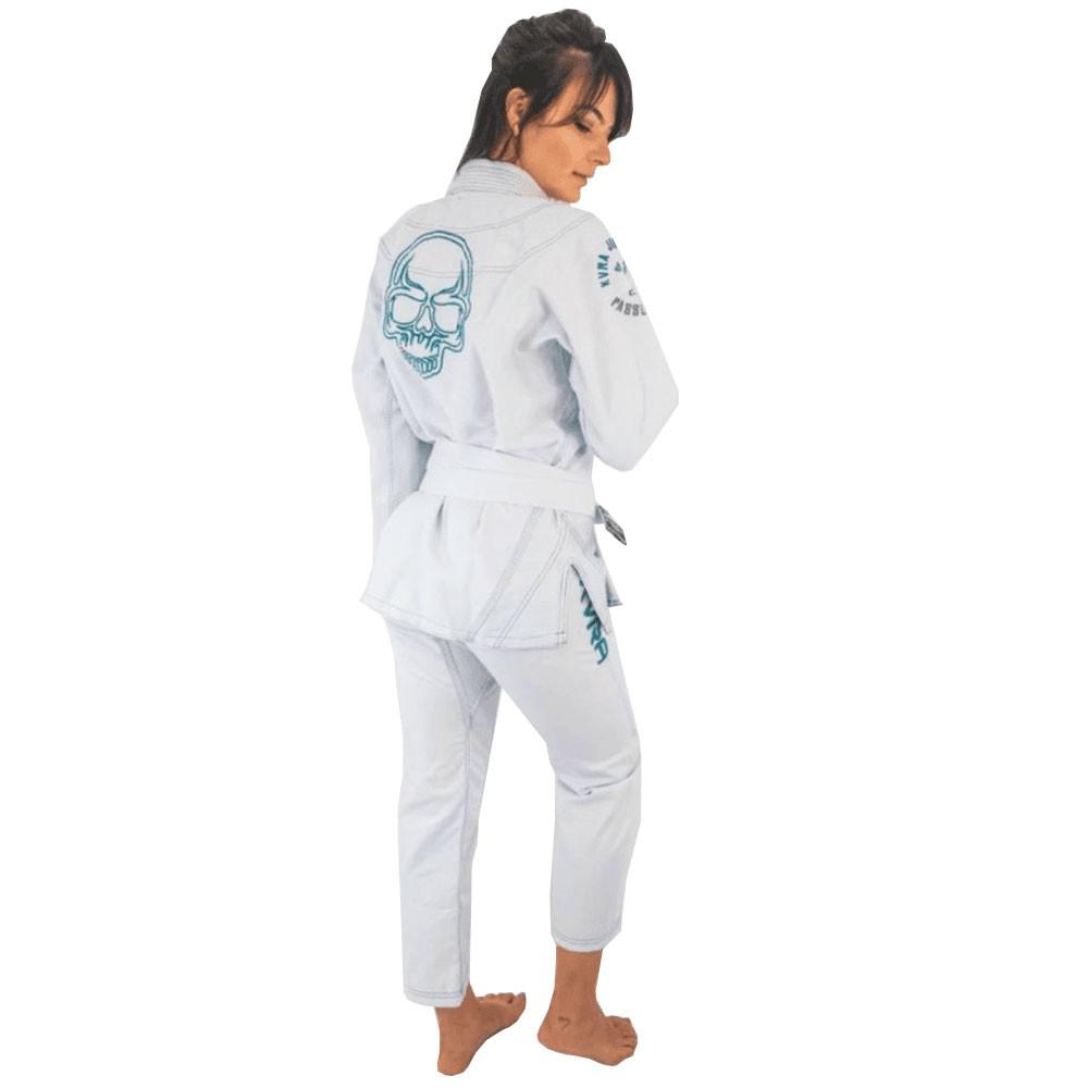 Kimono Jiu Jitsu Kvra Shadow Branco Feminino