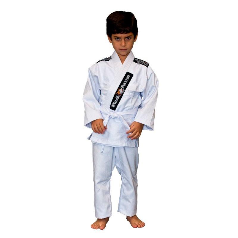 Kimono Jiu Jitsu Red Nose  Juvenil Reforçado Branco Infantil
