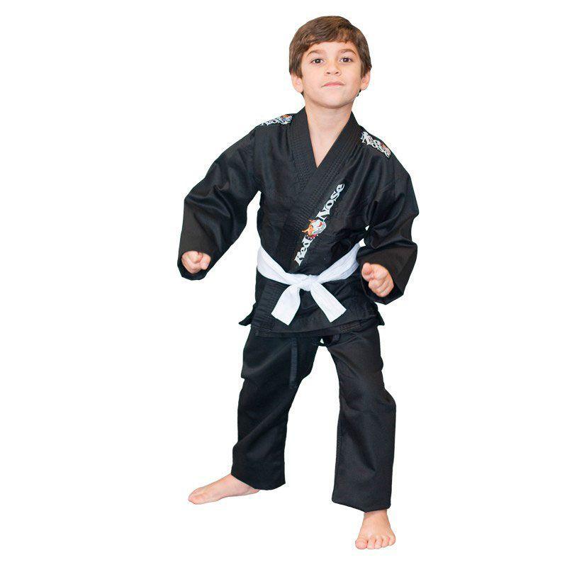 Kimono Jiu Jitsu Red Nose Juvenil Reforçado Preto Infantil