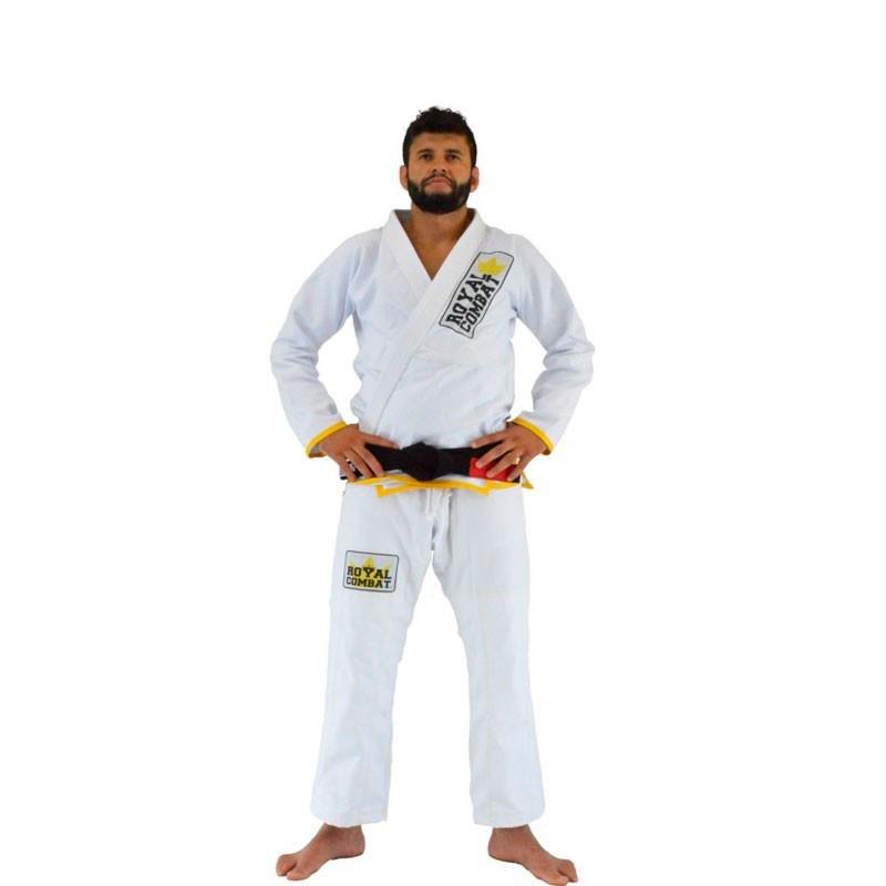 Kimono Jiu Jitsu Royal Combat Light Series Branco Adulto Unissex