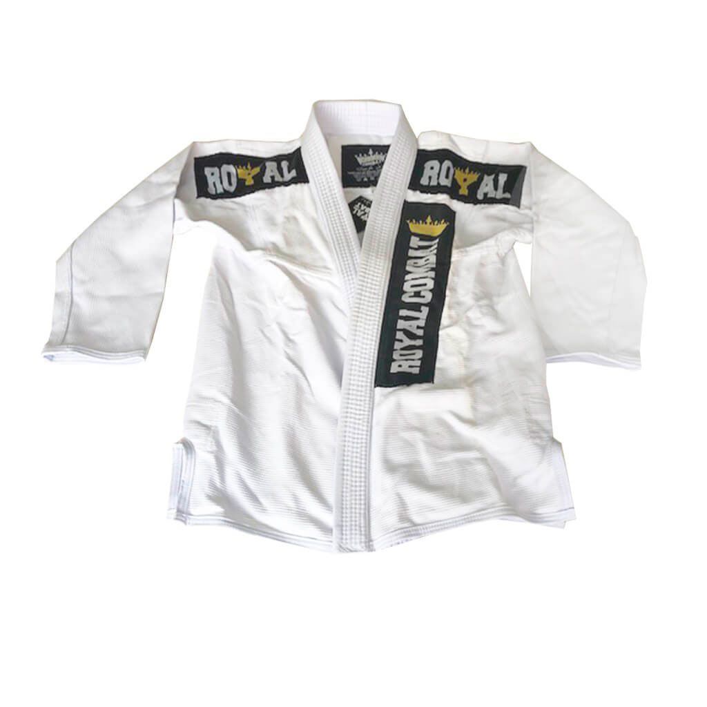 Kimono Jiu Jitsu Royal Combat Retrô Branco Adulto Unissex