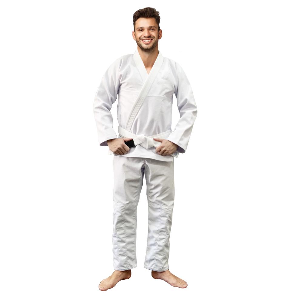 Kimono Jiu Jitsu Trançado Branco Liso Blackball