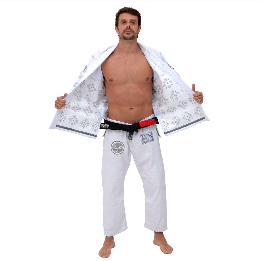 Kimono Jiu Jitsu Vulkan Dominance 2.0 Branco Adulto Unissex