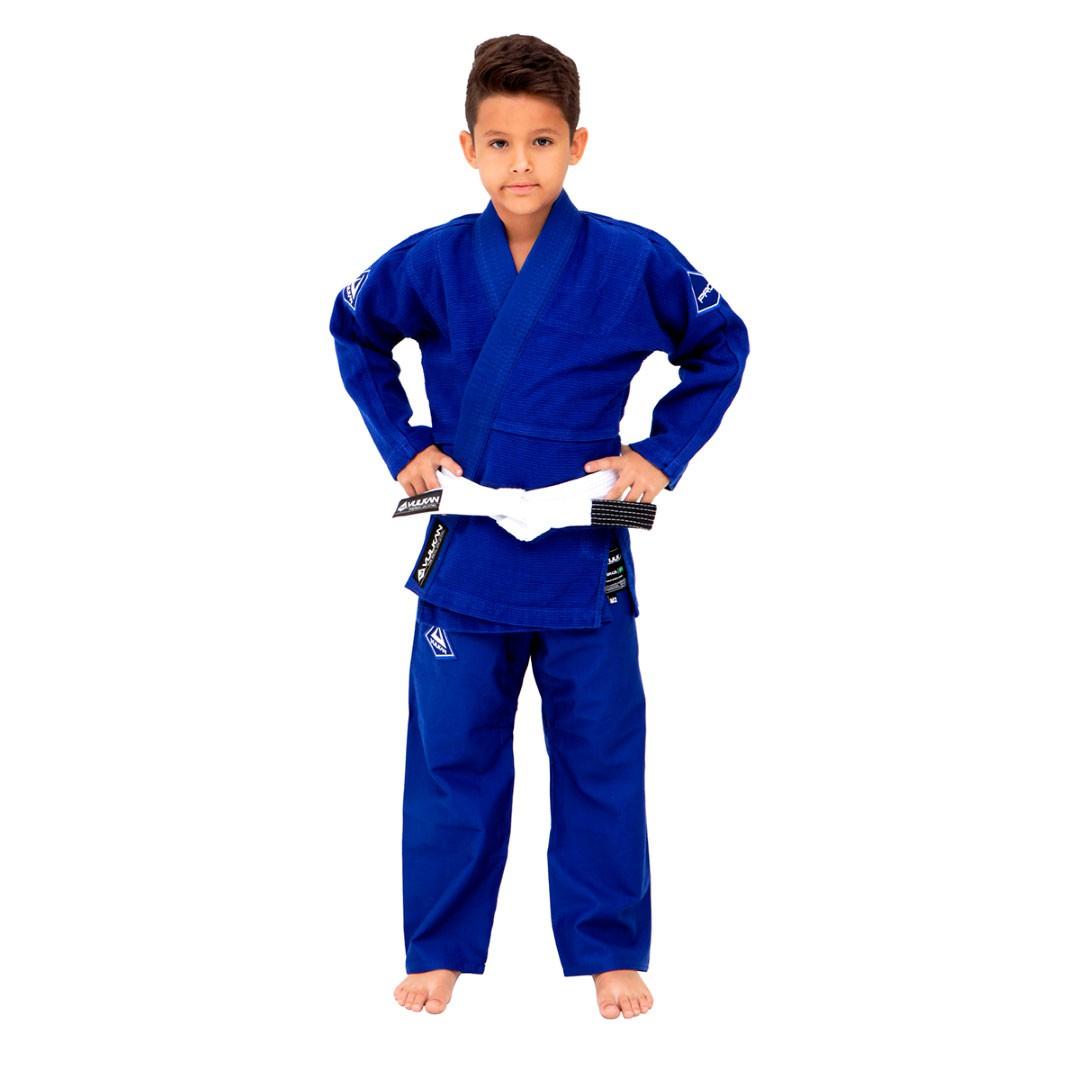 Kimono Jiu Jitsu Vulkan Pro Evolution Azul Royal Infantil