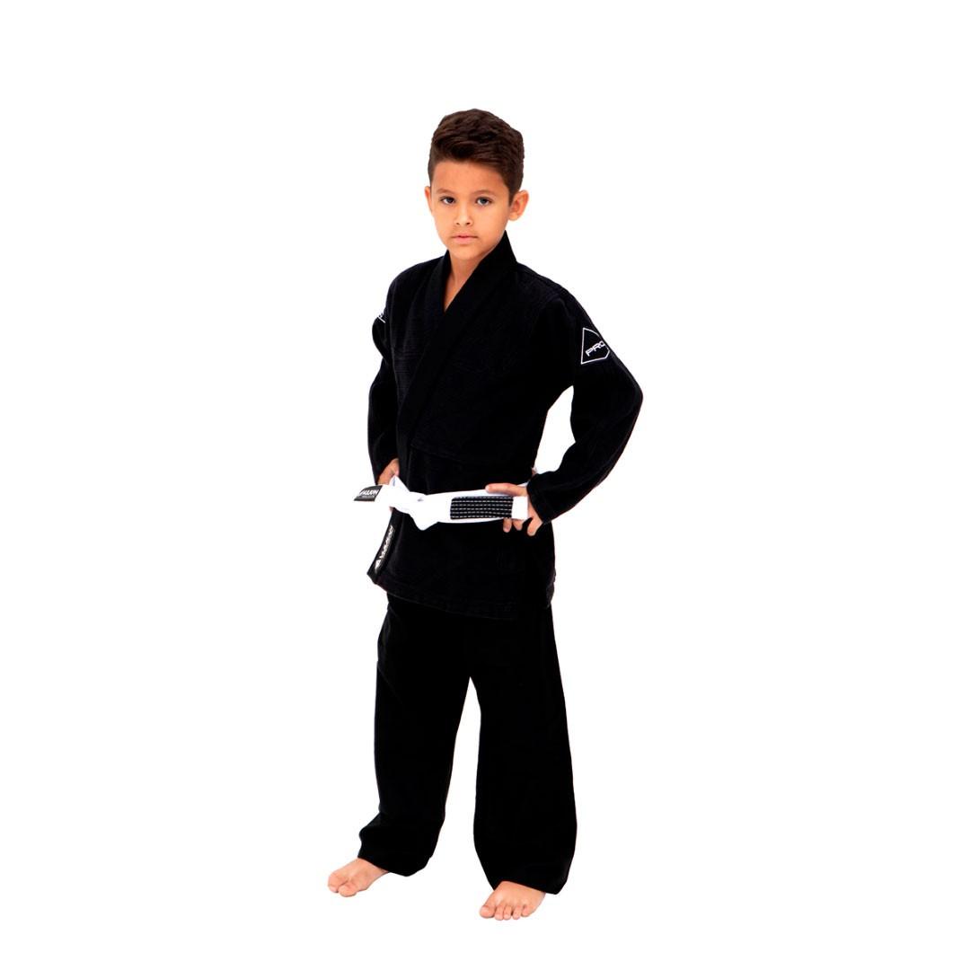 Kimono Jiu Jitsu Vulkan Pro Evolution Preto Infantil