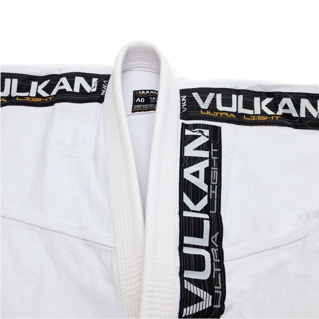 Kimono Jiu Jitsu Vulkan Ultra Light Branco Adulto Unissex