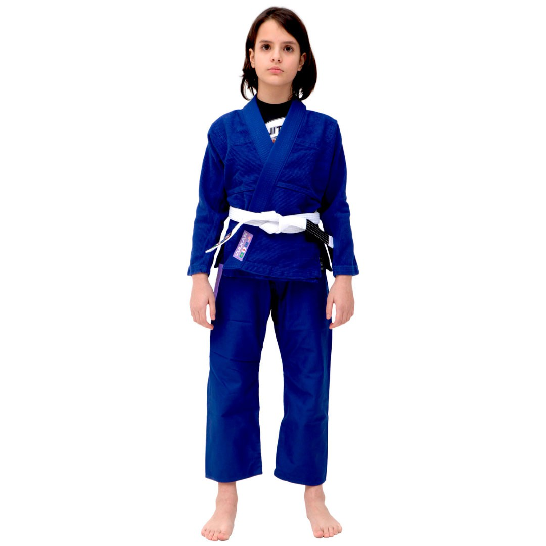 Kimono Jiu Jitsu Vulkan VKN Pro Azul Rosa Infantil