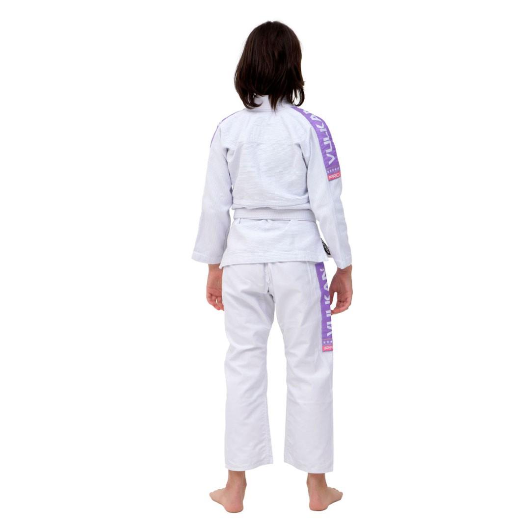 Kimono Jiu Jitsu Vulkan Vkn Pro Branco Lilás Infantil
