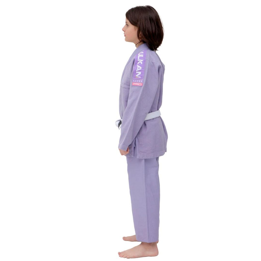 Kimono Jiu Jitsu Vulkan Vkn Pro Lilás Infantil
