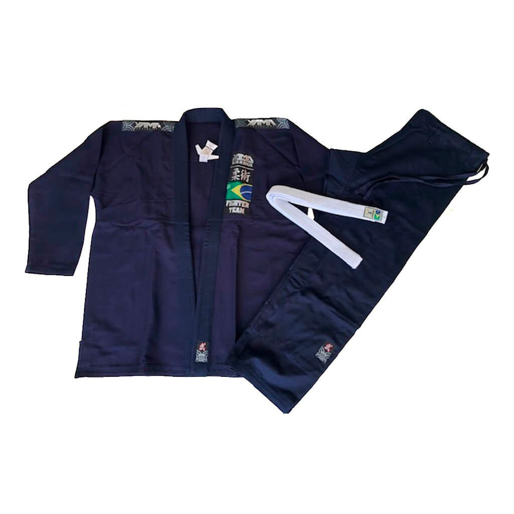 Kimono Jiu Jitsu Yama Plus Marinho Adulto Unissex