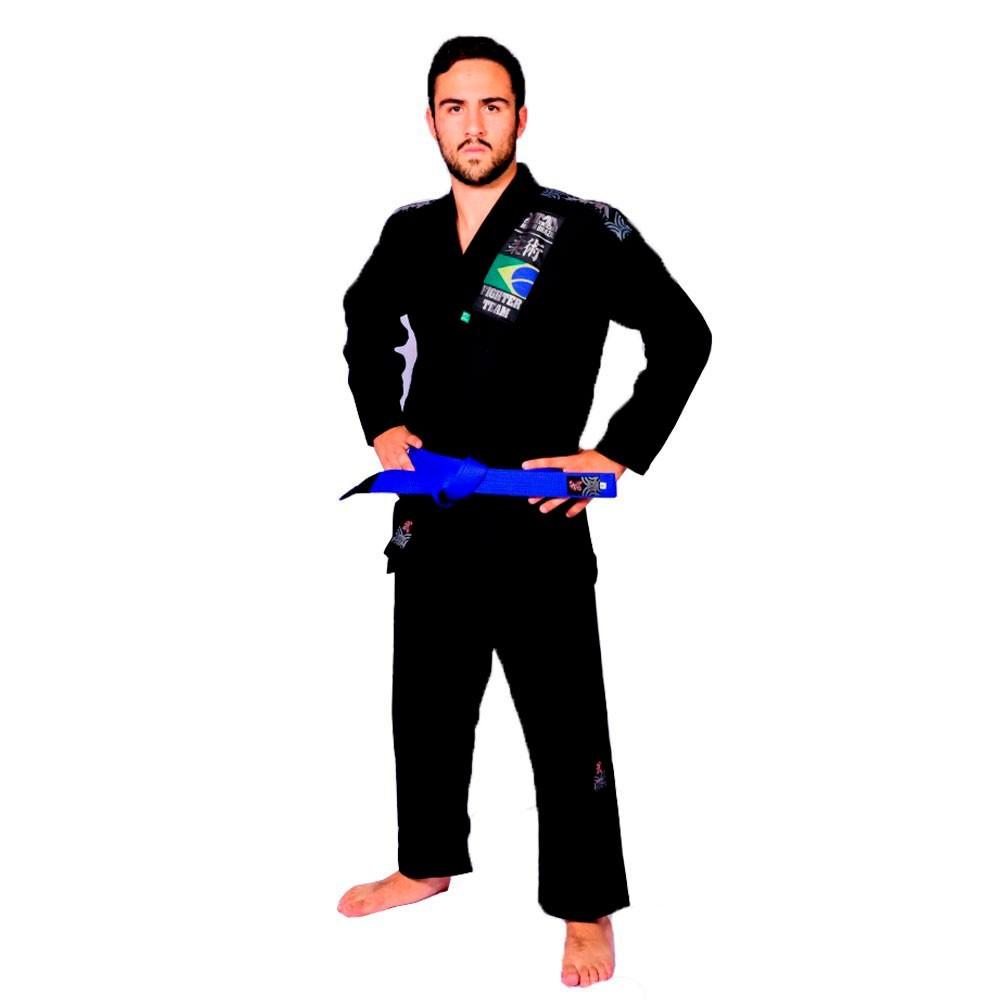 Kimono Jiu Jitsu Yama Plus Preto Adulto Unissex