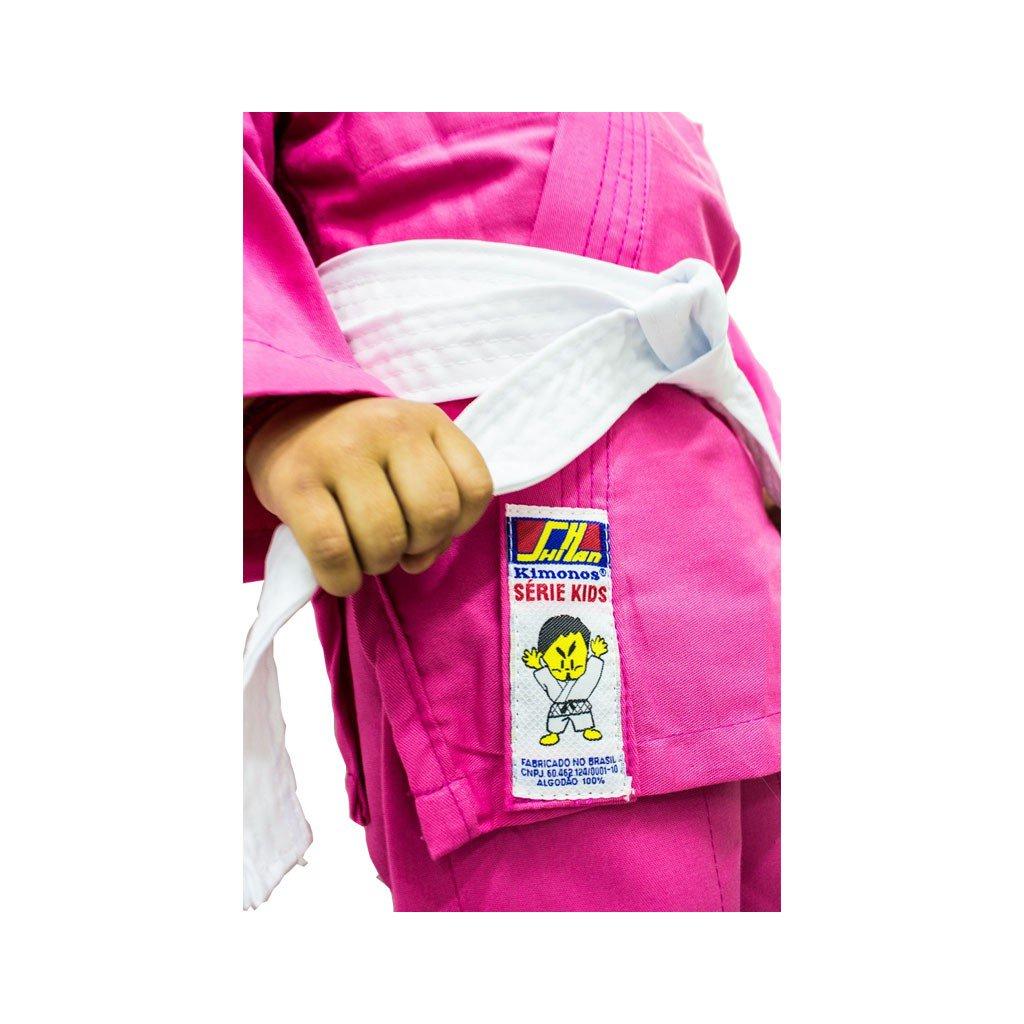 Kimono Jiu Jitsu Shihan Kids Rosa Infantil