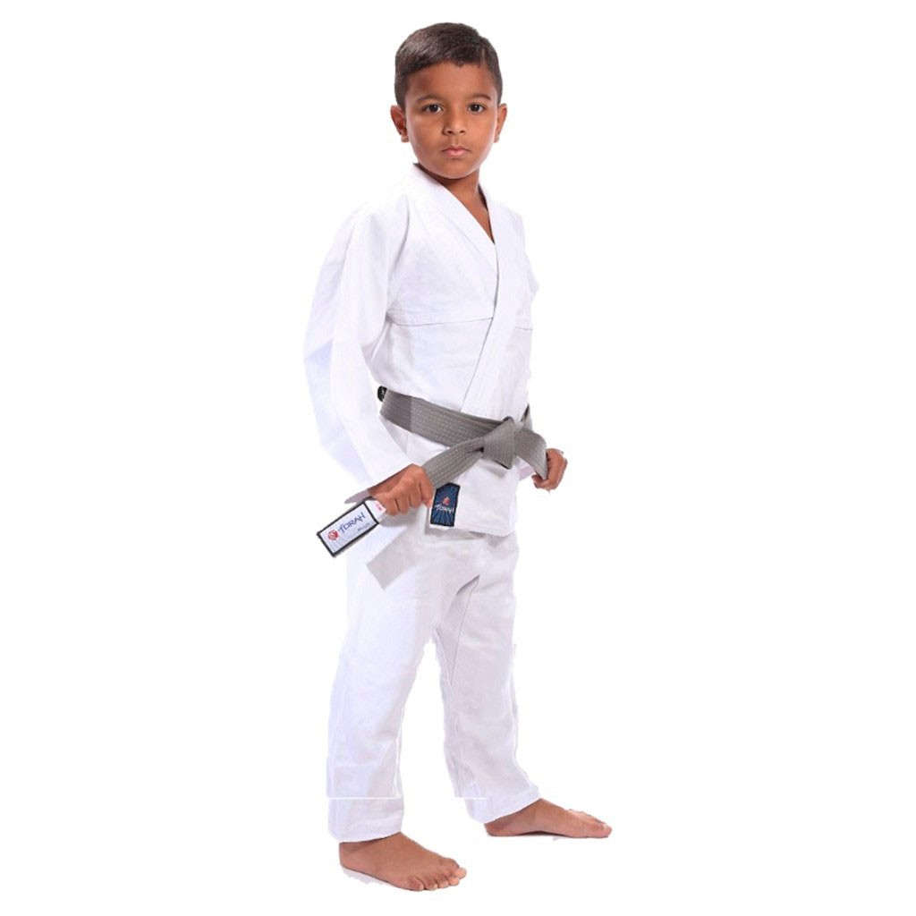 Kimono Jiu Jitsu Torah Reforçado Flex Branco Infantil