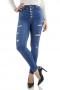 Calça Skinny Jeans Nápoles Botões Es