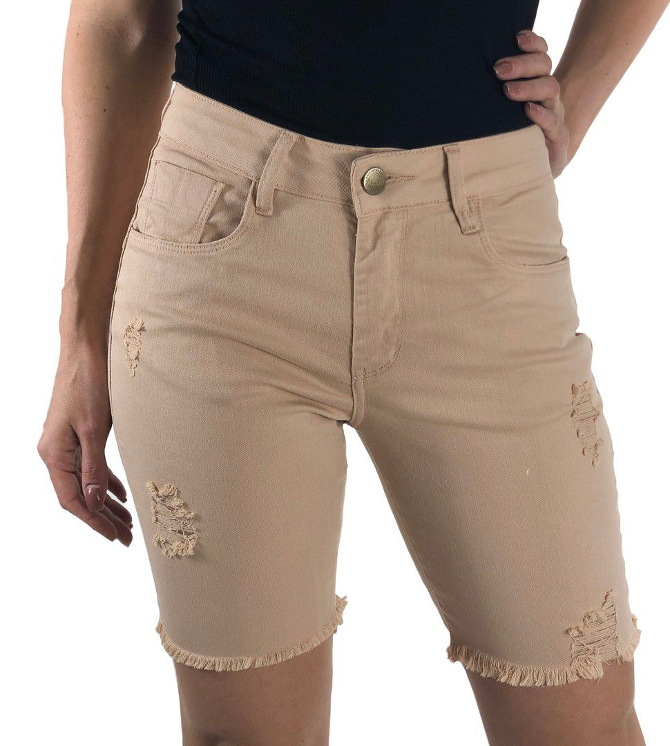 Bermuda Jeans Bege