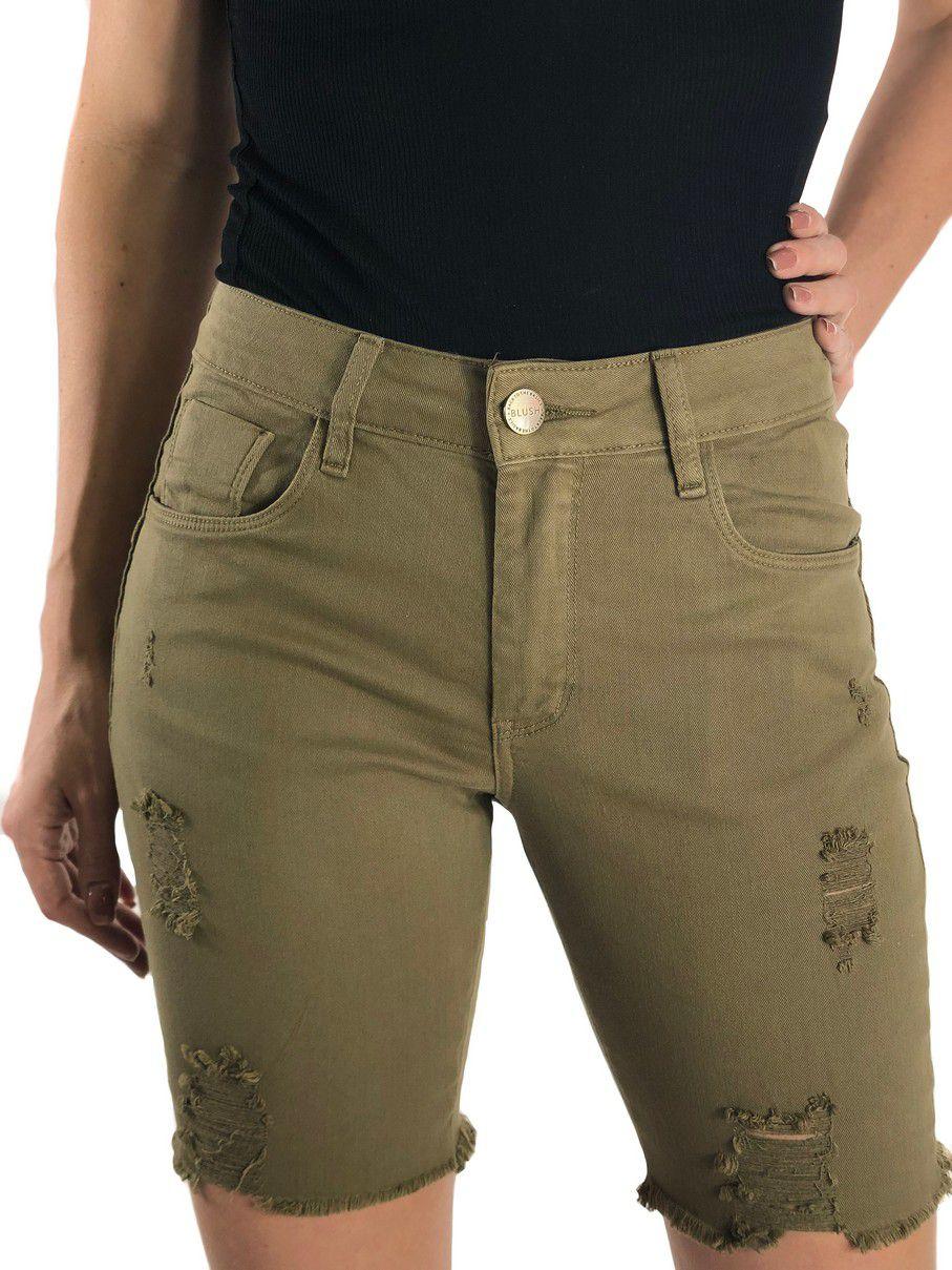 Bermuda Jeans Olive