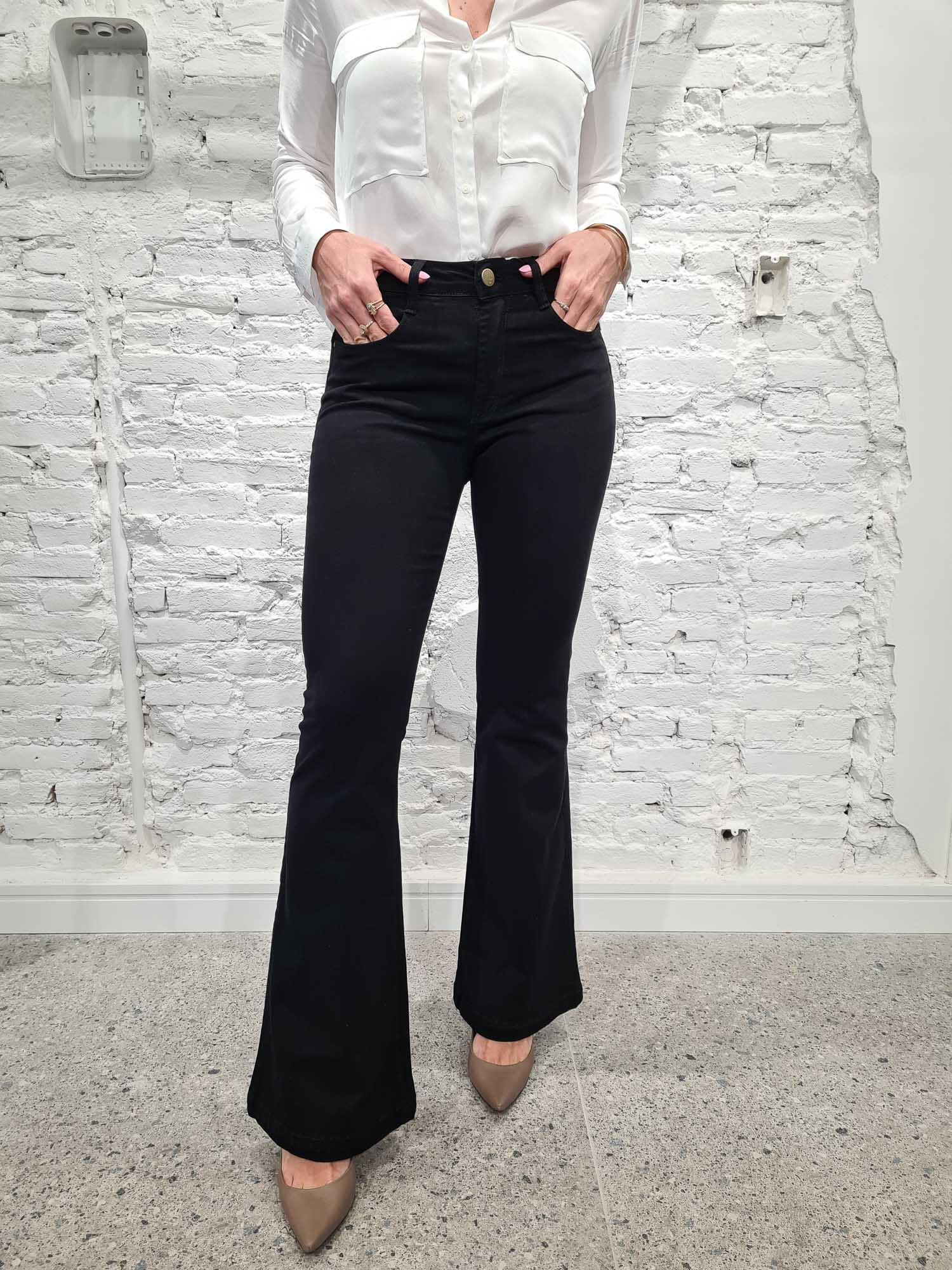 Calça Flare Jeans Dream Preta