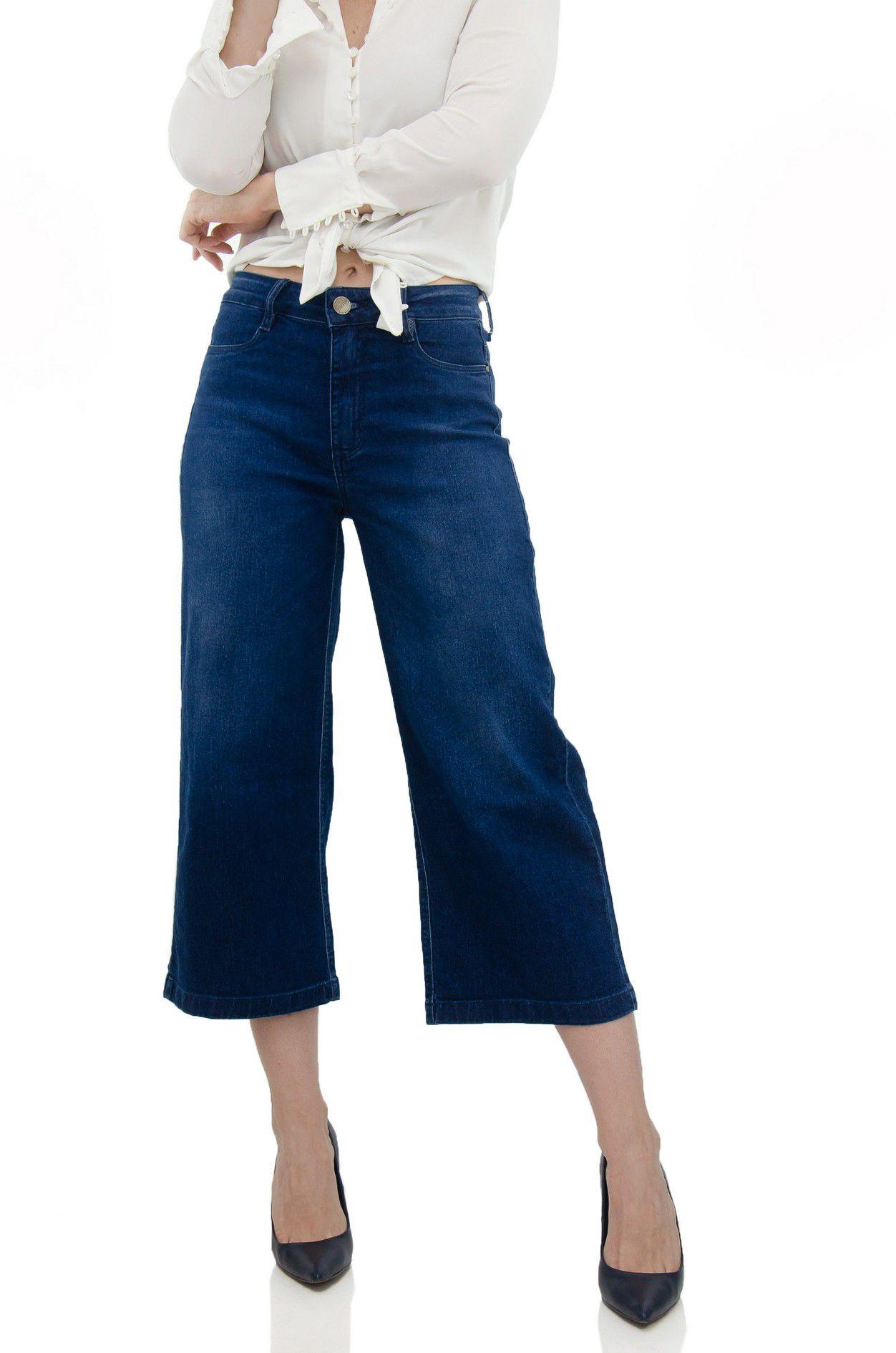 Calça Pantacourt Jeans Ipanema