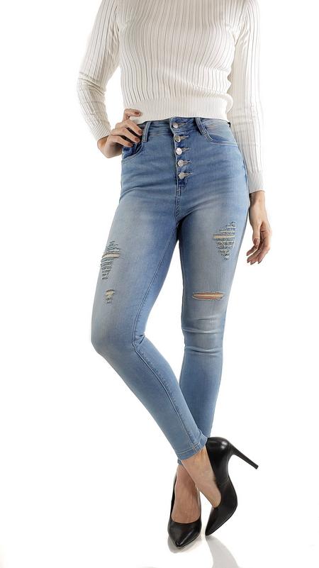 Calça Skinny Jeans Nápoles Botões Cl