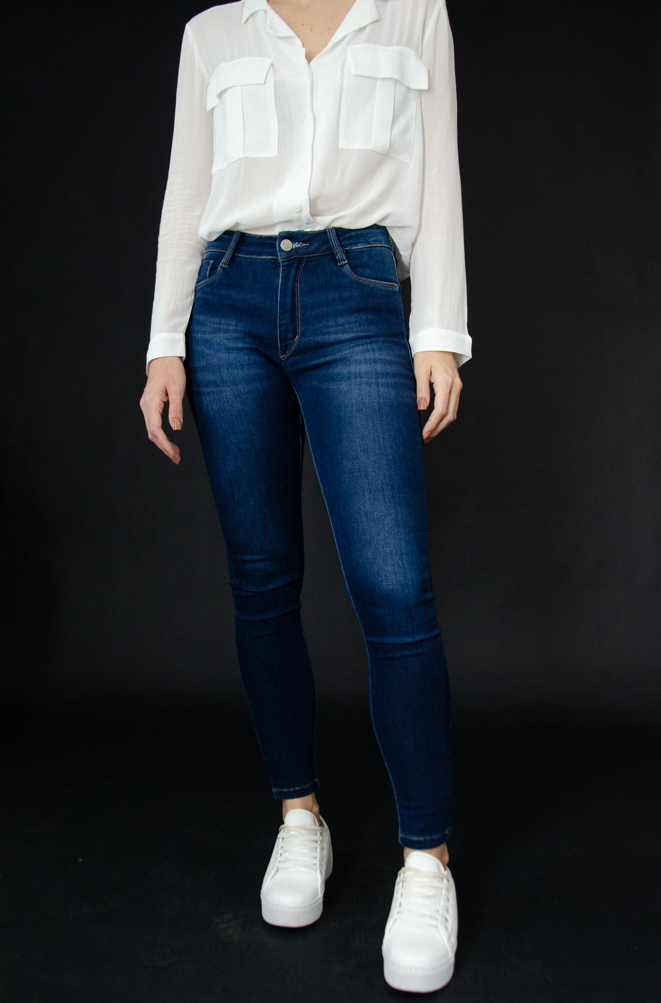 Skinny Jeans Ultrasoft Dark Blue