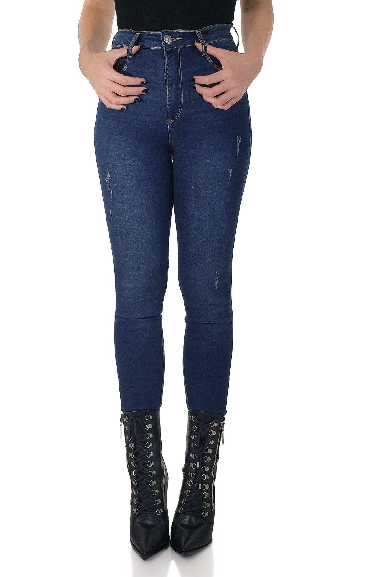 Super Skinny Jeans Cintura Alta Es