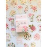 Adesivo caixinha Florzinhas