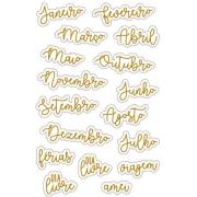 Adesivo Meses dourado