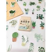 Adesivo vasinho de plantas