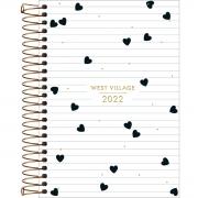 Agenda Espiral Diária 14 x 20 cm West Village 2022
