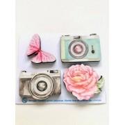 Aplique MDF Memórias Câmera