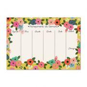Bloco planner Semanal A4 Floral dia