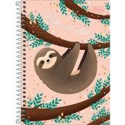Caderno Capa Dura Preguiça 1 Matéria