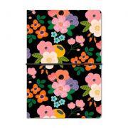 Caderno Duplo Floral Noite