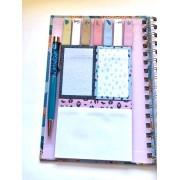 Caderno Oncinha com Sticky Notes