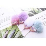 Caneta Arco Iris Pompom
