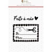 CARIMBO G FEITO À MÃO - COLEÇÃO LOVE SCRAP