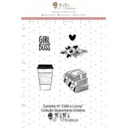 CARIMBO M CAFÉ E LIVROS - COLEÇÃO QUARENTENA CRIATIVA