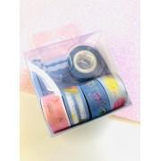 Washi tape Azul Escuro mini 5 un